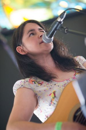 Emma Pollock performs at the annual, bank holiday extravaganza At the Edge of the Sea, hosted by The Wedding Present at Concorde2 in Brighton, August 24, 2014.
