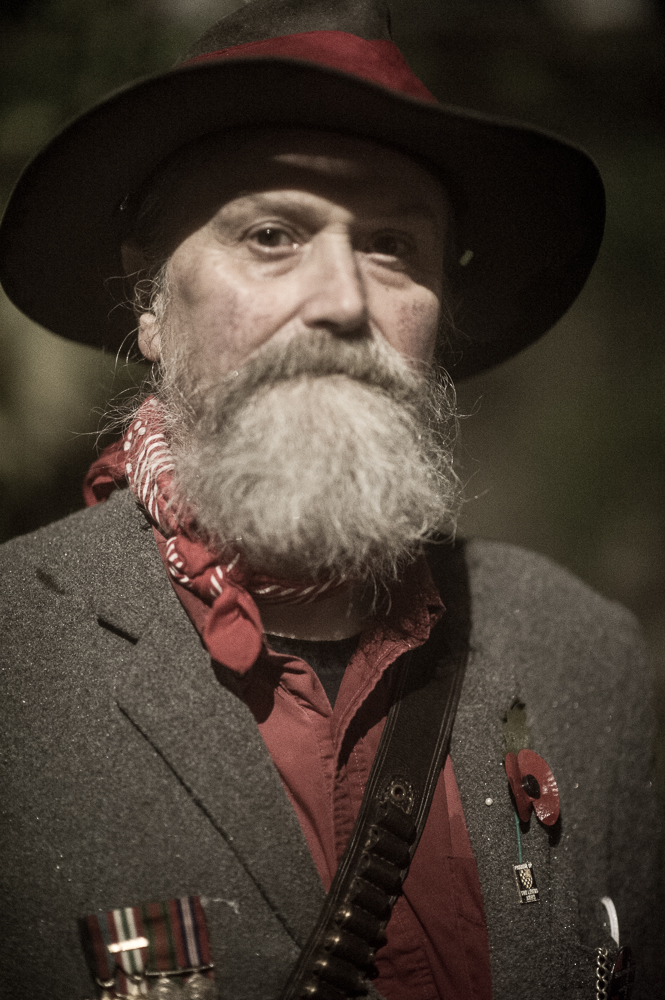 Martin Crees whose grandfather marched at Bonfire in 1903, with Southover Bonfire Society - Bonfire Night at Lewes, Sussex- 5 Nov 2015