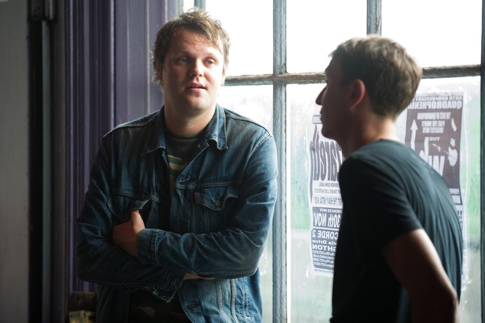 Sami Salo and Charlie Layton backstage at the The Edge of the Sea mini festival at Concorde2, Brighton - 24 Aug 20130824 2013