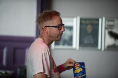 Darren Belk backstage at the The Edge of the Sea mini festival at Concorde2, Brighton - 24 Aug 20130824 2013