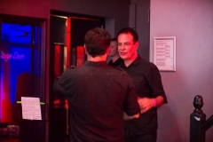 David Gedge and Patrick Alexander of The Wedding Present backstage at The Edge of the Sea mini festival at Concorde2, Brighton - 25 Aug 2013