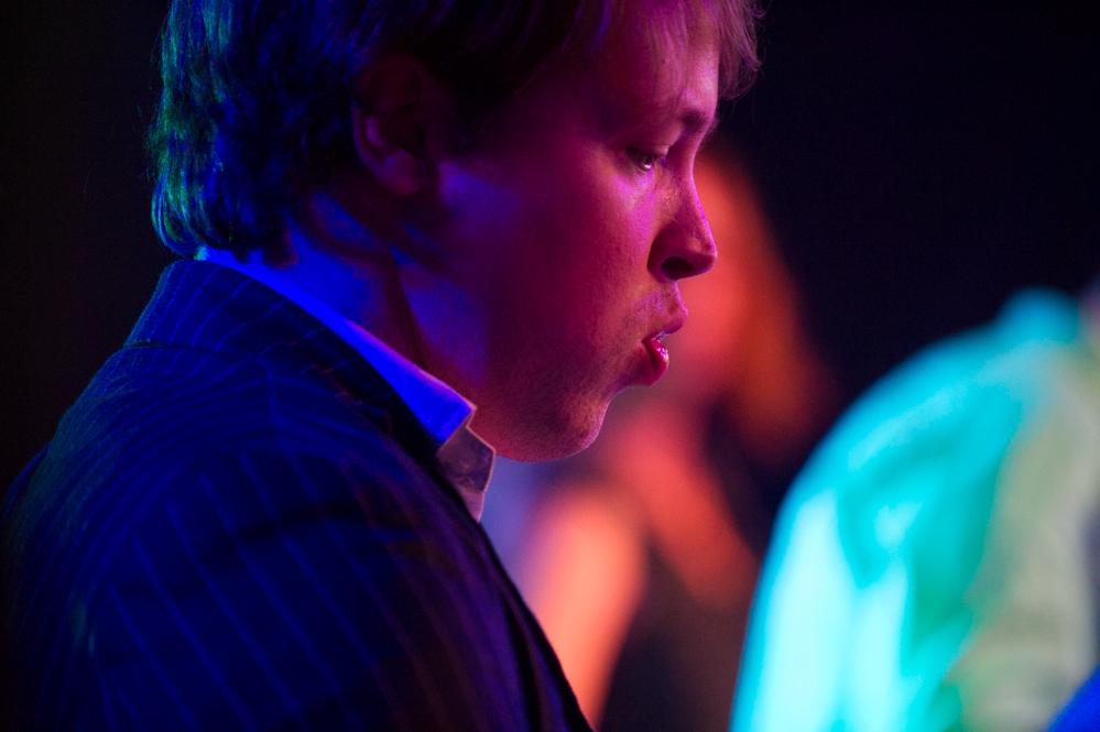 Sam Beer-Pearce of Cinerama at The Edge of the Sea mini festival at Concorde2, Brighton - 25 Aug 2013