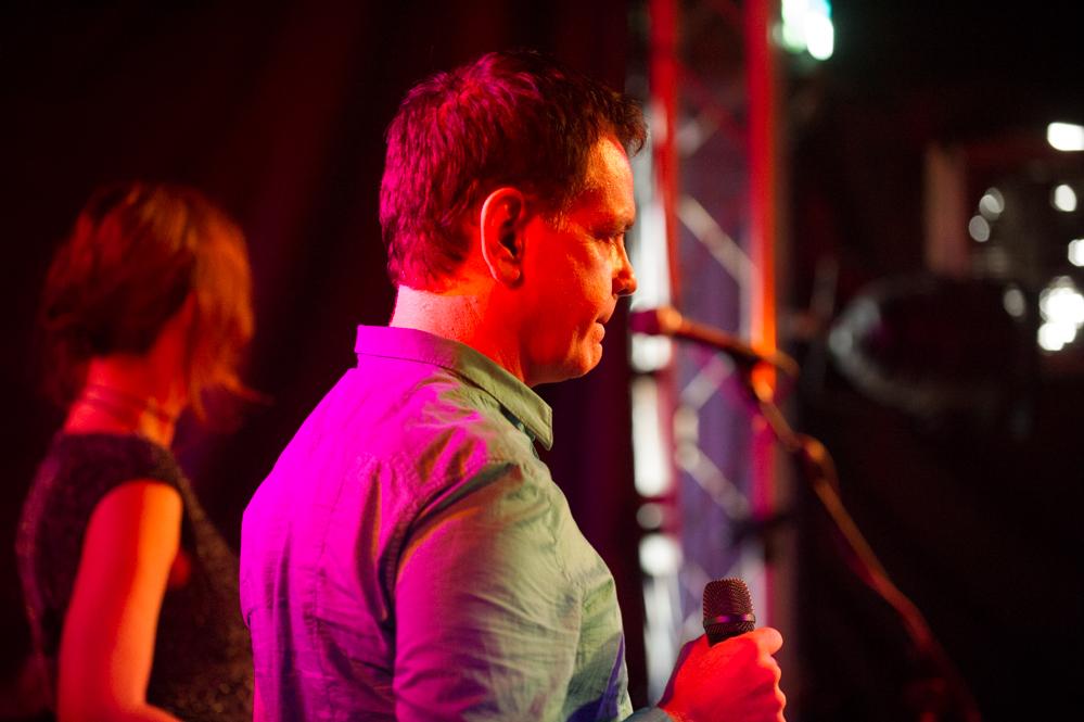 David Gedge of Cinerama at The Edge of the Sea mini festival at Concorde2, Brighton - 25 Aug 2013