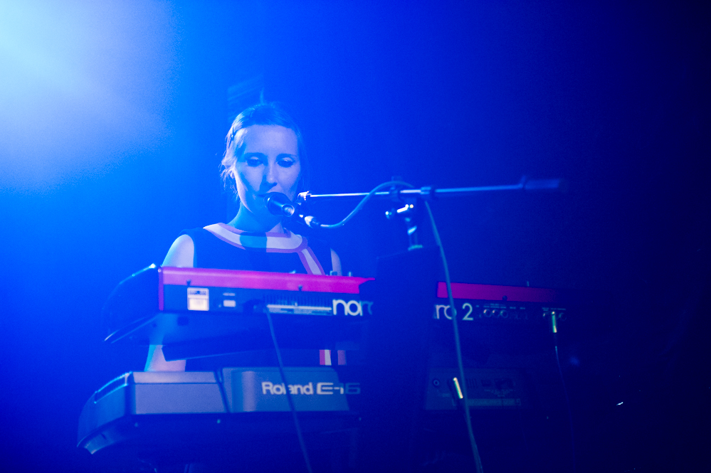 Danielle Wadey playing with Cinerama at the The Edge of the Sea mini festival at Concorde2, Brighton - 24 Aug 20130824 2013