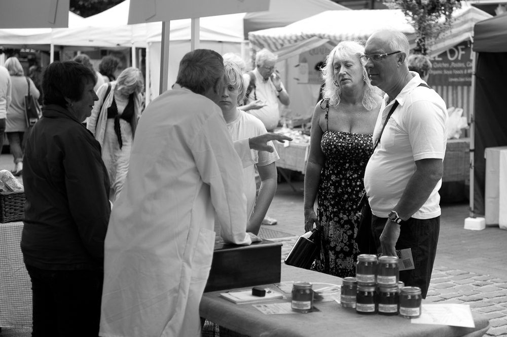Lewes Farmers Market, Lewes, Sussex, England. Sat, 6 Aug., 2011.  (c) 2011 Auwyn.com All Rights Reserved
