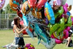 balloon vendor @ Guilfest Music Festival, Guildford, Surrey, England. Sat, 16 July, 2011.