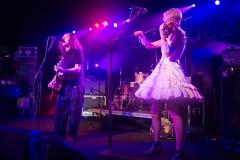 Miles Hunt and Erica Nockalls of the Wonderstuff at The Edge of the Sea mini festival at Concorde2, Brighton - 25 Aug 2013