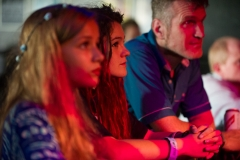 Audience watching No Middle Name at The Edge of the Sea mini festival at Concorde2, Brighton - 25 Aug 2013