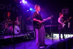 Terry de Castro with Charlie Layton and Danielle Wadey on Le Bikini Stage at the At the Edge of the Sea at Concorde2, Brighton, Sussex- 20 Aug 2016