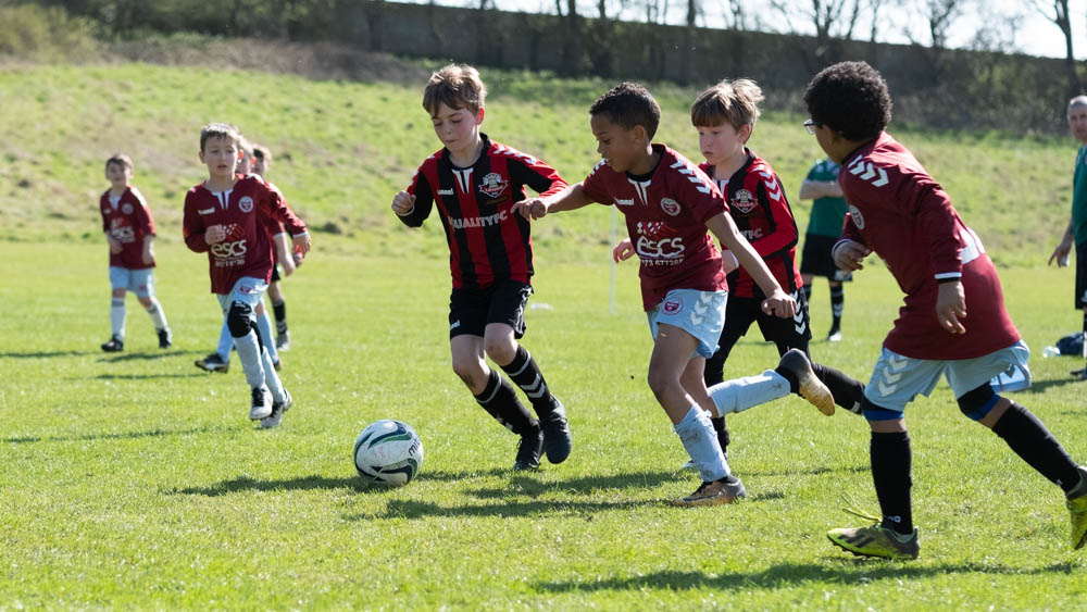 Lewes u8s Vs Woodingdean u8s at Nuffield Playing Fields, Woodingdean, Sussex; 24 Mar, 2019.