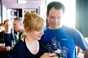 David Gedge with Jessica McMillan at the At the Edge of the Sea one-day festival hosted by The Wedding Present