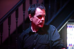 David Gedge backstage at the At the Edge of the Sea one-day festival hosted by The Wedding Present