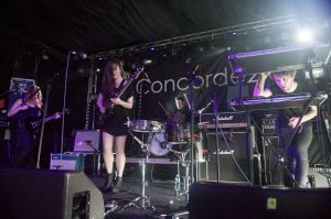 Bird perform at the annual, bank holiday extravaganza At the Edge of the Sea, hosted by The Wedding Present at Concorde2 in Brighton, August 24, 2014.