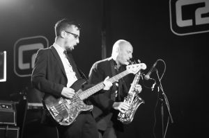 The Cravats perform at the annual, bank holiday extravaganza At the Edge of the Sea, hosted by The Wedding Present at Concorde2 in Brighton, August 24, 2014.